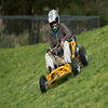 Their low profile makes the go karts safe for sloping sections