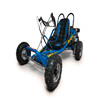 Drift Go Kart in blue with padded seat.