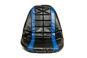 SEAT COVER PADDED BLUE