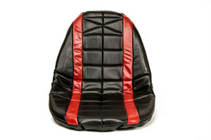 SEAT COVER PADDED RED